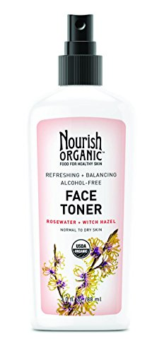 - Nourish Organic Refreshing & Balancing Face Toner, Rosewater and Witch Hazel, 3 Ounce