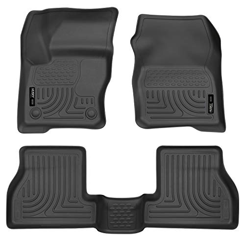 Husky Liners 98771 Black Weatherbeater Front & 2nd Seat Floor Liners Fits 2012-2016 Ford Focus ()