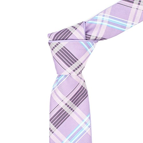 Flip My Tie Men's Pink & Aqua Plaid Reversible Tie 59IN (Mens Reversible Tie)