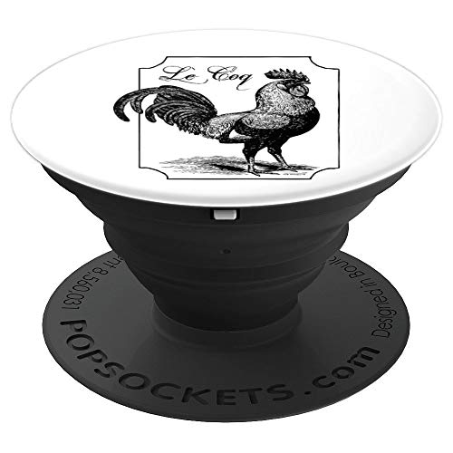 Le Coq Funny Chicken Rooster Cock White Pop Socket - PopSockets Grip and Stand for Phones and Tablets