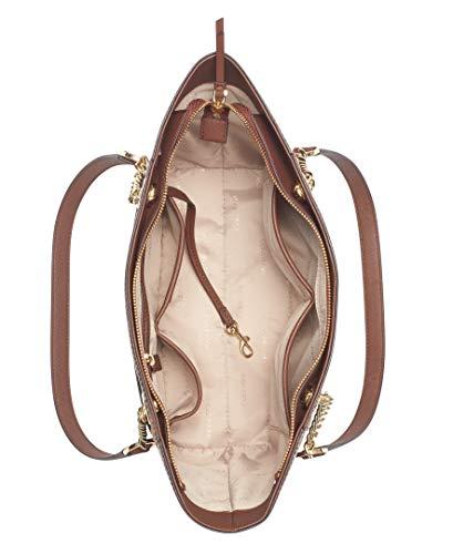 Calvin Klein Women's Hayden Saffiano East/West Top Zip Chain Tote