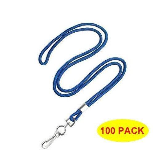 """HOSL Economy Blue Lanyards Round 36"""" with Swivel Hook (Qty 100) (Blue)"""