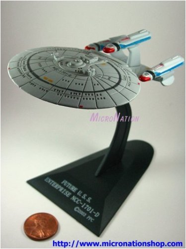 Future USS Enterprise 1701-D Furuta Star Trek Federation Ships & Alien Ships Collection 2 Miniature Display Model