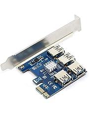 WBTUO Riser Card PCI-E USB 3.0 PCIe-poort multiplier kaart PCI Express PCIe 1 tot 4 PCI-E naar PCI-E voor BTC Miner Machine