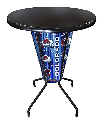Pub Avalanche Table Colorado - Holland Bar Stool Co. Outdoor/Indoor LED Lighted Colorado Avalanche Pub Table