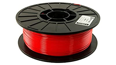 3D Fuel Pro PLA Fire Engine Red 1.75mm 1Kg 3D Filament Diameter Tolerance +/- 0.05mm Made in USA