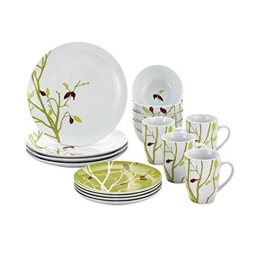 Rachael Ray Dinnerware Seasons Changing 16-Piece Porcelain Dinnerware Set 16 Piece Dinner Set Tableware