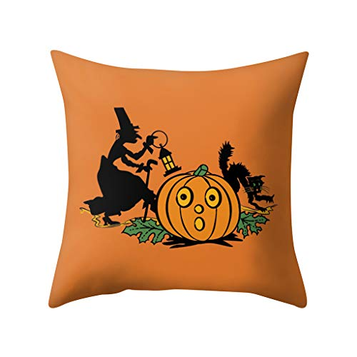 MoonHome Pumpkin Home Decoration Throw Pillow Case Covers,Halloween Thanksgiving Autumn Printing Cotton Linen Cushion Cover Square 18x18 inch for Car Sofa Bed Couch