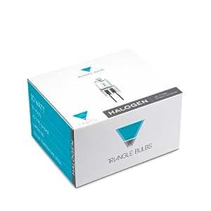 Triangle Bulbs T10003-25 (25 pack) - Q10/G4/CL/12V, 10 Watt, T3 JC Type, 12 Volt, Clear, G4 Bi-pin Base, Halogen Light Bulb, 25 Pack