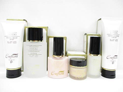 エクセレントイブフローラ化粧品美顔6点セット メイク落とし+洗顔料+化粧水+美容液+乳液+クリーム6点セット B07FLGB6MQ