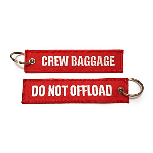 Crew Baggage/Do Not Offload Luggage Tag/Embroidered Key chain