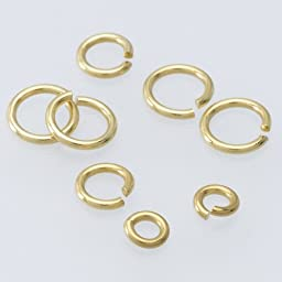 14K Yellow Gold Solder-Filled Round Jump Ring 22 ga. 1.6 mm Pack of 2 Findings