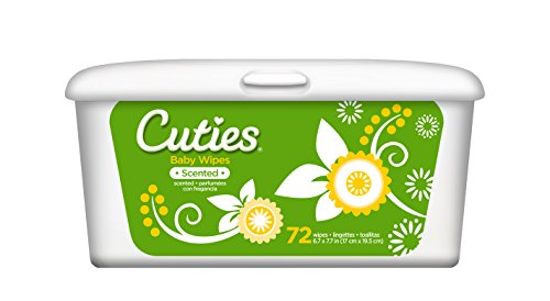 Scented Scents Powder (Cuties Baby Wipes (Tub, Powder Scent, 72-Count), Pack of 12)
