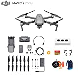 DJI Mavic 2 Zoom Drone Quadcopter, Ultimate Bundle, with 64GB SD Card, Filter Set, Landing Pad, Landing Gear and Backpack