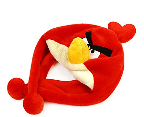 Angry Birds Red Doll Figure Hat Cap Earmuffs Animal Pretend Play Costume