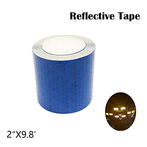 2″WideX9.8′Length Reflective Tape Blue Safety Warning Stickers Waterproof self-adhesive trailer reflector tape-reflective tape for trucks,trailers,car,bicycle RV