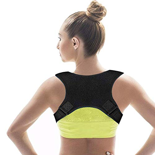 Asonway 【2019 New Version Back Posture Corrector for Men & Women, Upper Back Brace   Clavicle Support Device for Thoracic Kyphosis and Providing Pain Relief from Back Neck & Shoulder