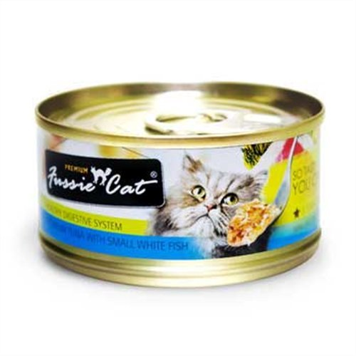 Fussie Cat Premium Tuna with Small White Fish Canned Cat Food – 24 – 2.82-oz. Cans, My Pet Supplies