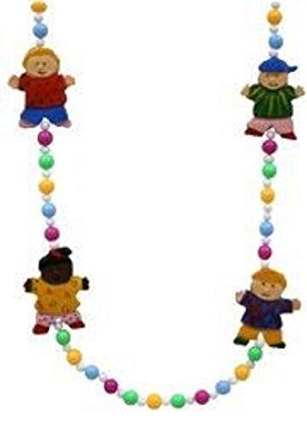 Mardi Gras, Around the World Children Beads, Necklace, 42