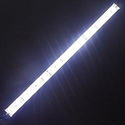 """LEDENET 24V DC Cold White (6500K - 7000K) Supper Bright 5050 SMD Aquarium LED Strip - Waterproof Aluminum Lighting (12.5"""" Long)"""