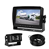 Cheap iStrong Backup Camera and 7″ HD Monitor kit for 5th Wheel/RV/Truck/Trailer/Camper Rear View Camera Whole System Wire a Single Power Supply Waterproof 18 IR LED Night Vision Quick Install