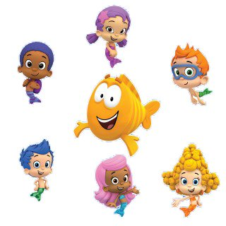 bubble guppies set of removable wall stickers inch bubble
