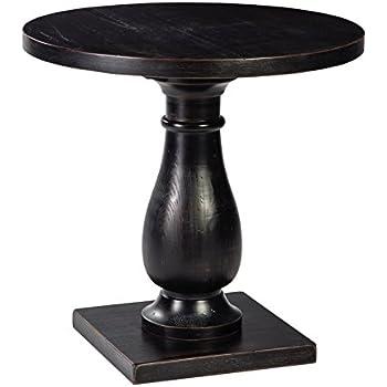 Ashley Furniture Signature Design - Vennilux End Table - Accent Side Table - Round - Black