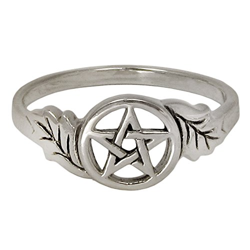 Sterling Silver Oak Leaf Pentacle Ring