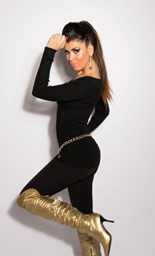 Sudadera Jersey koucla con brillantes en wickel aspecto de einheits de tamaño 34/36/38isf129128 negro