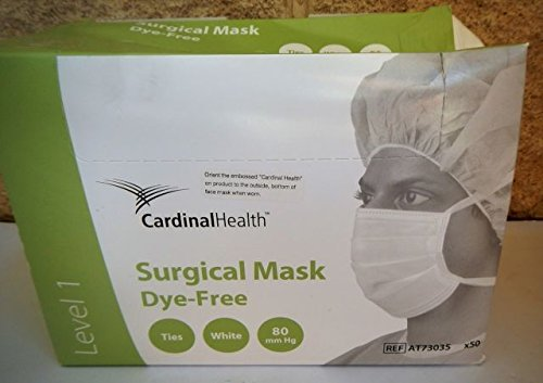 Cardinal Health AT73035 Secure-Gard Surgical Mask for Sensitive Skin, White (Pack of 300)