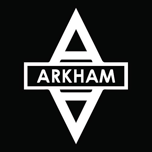 ANGDEST Arkham Asylum Batman (White) (Set of 2) Premium Waterproof Vinyl Decal Stickers for Laptop Phone Accessory Helmet Car Window Bumper Mug Tuber Cup Door Wall Decoration
