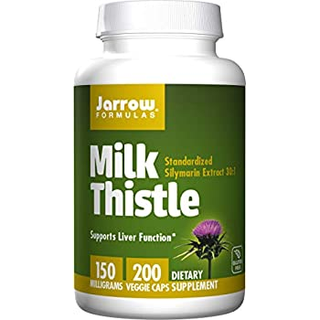 Jarrow Formulas Milk Thistle (Silymarin Marianum), Promotes Liver Health, 150 mg per Capsule, 200 Count