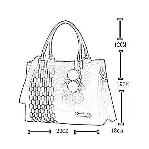 26 LMG bandoulière 6 ANLEI 19cm 13 Diagonal Main à 791 PU Couleurs Grey Sac La Sac à Femmes Mode Paquet Rwq1a