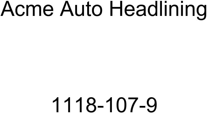 Acme Auto Headlining 1118-107-9 Dark Brown Replacement Headliner 1941 Buick, Cadillac, Oldsmobile, Pontiac 4 Door Sedan - 8 Bows