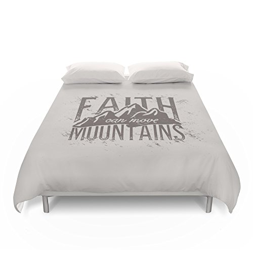Society6 Faith Can Move Mountains Duvet Covers King: 104'' x 88'' by Society6