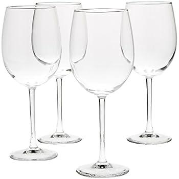 AmazonBasics All Purpose Wine Glasses   19 Ounce, Set Of 4