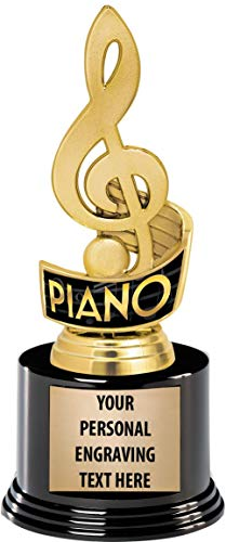Crown Awards Piano Trophies with Custom Engraving, 7.25