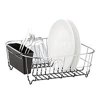 Escurridores de platos pequeños de acero cromado Neat-O Deluxe (negro)