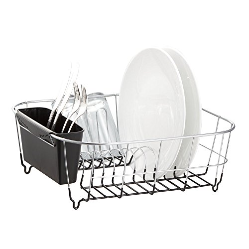 Sink Dish Rack - Neat-O Deluxe Chrome-plated Steel Small Dish Drainers (Black)