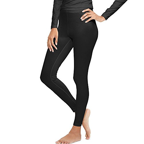 Duofold Women's Mid Weight Varitherm Thermal Leggings, Black, Large
