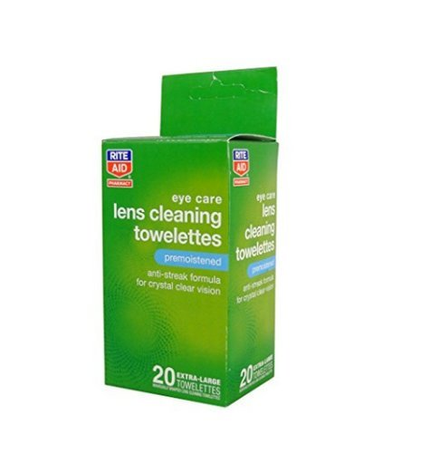 Rite Aid Pharmacy Lens Cleaning Towelettes  Premoistened 20 Towelettes