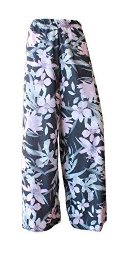 Brezza F4U® - Pantalones largos estampados para mujer Lily Floral Pink