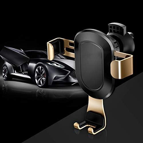4.0-6.2インチの携帯電話の車のブラケットのための車の電話ホルダーエアコンセント重力ブラケット (色 : ゴールド)