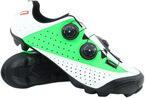 LUCK , Zapatillas de Ciclismo MTB Laser, con Suela de Carbono, Doble Sistema rotativo y Tacos de Goma Natural.