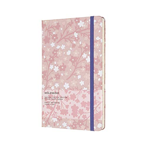 Moleskine Limited Edition Sakura Notebook, Hard Cover, Large (5