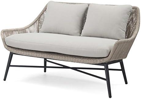 ACOMODAT Sofá Exterior de Dos plazas en Aluminio Lacado y Cuerda Trenzada. Medidas: 80 cm Alto, 138 cm Ancho, 80 cm Fondo.: Amazon.es: Hogar