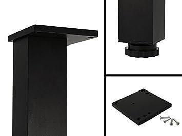 Metall Mobelfuss Schwarz Tischbein Hohen Verstellbar 25 Mm