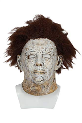 Michael Myers Mask Deluxe Latex Cosplay Props Wigs High Similarity for Halloween Party ()