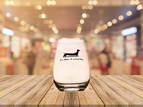 Momstir It's Been a Long Day Dachshund Funny Novelty Beer Glass & Wine Glass Combo 16oz Wiener Dog Beer Gifts Dog Beer Gifts Present for Dad Papa Grandpa by Momstir (Image #5)