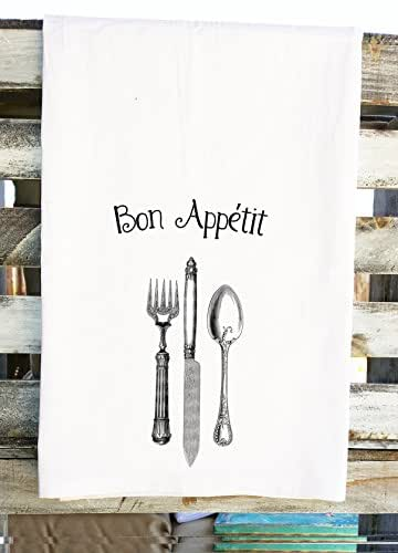 Bon Appetit Dish Towel French Inspired Kitchen Towel